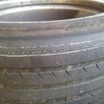 Bild von den kaputten Reifen nach dem Reifenwechsel