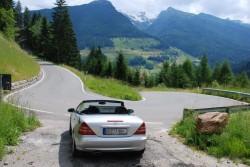 Der SLK in Südtirol angekommen