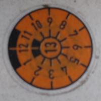 HU-Plakette am SLK R170